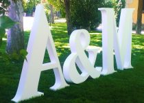 Letras poliespan boda, Viual Store