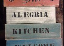 Cartel vintage madera, Viual Store
